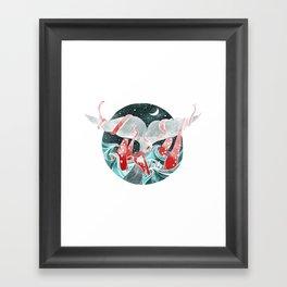 Moby Dick versus Kraken Framed Art Print