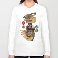 burger Long Sleeve T-shirts featuring Burger by Lerson