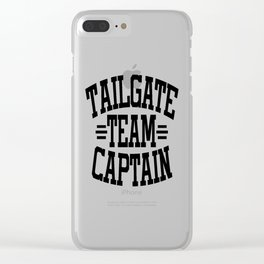 Tailgate Team Captain Clear iPhone Case