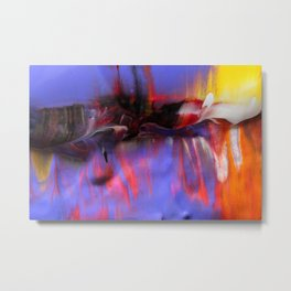 Spilled Paint III Metal Print