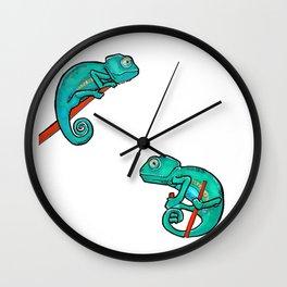 Minimalist Chameleon Design Wall Clock