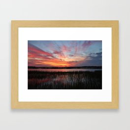 Sunset And Reflections 2 Framed Art Print