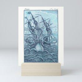 Vintage Colossal Squid Mini Art Print