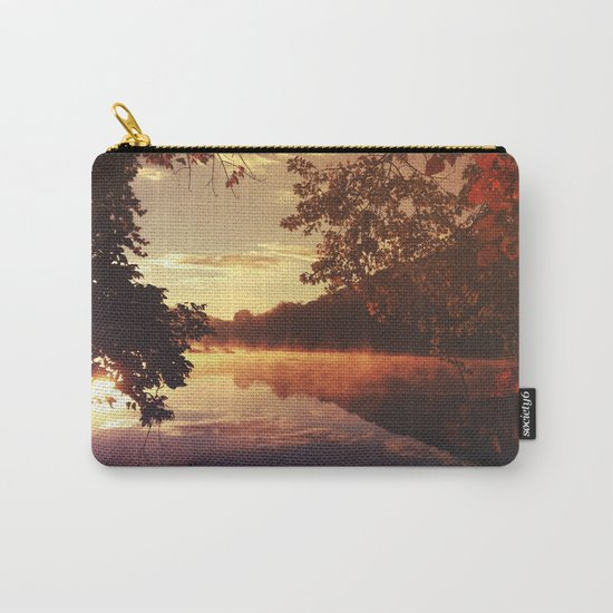 Early morningsun- Forest Sun Lake Trees Carry-All Pouch
