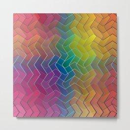 Zigzag & Zigzag 6 Metal Print