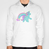 my little pony Hoodies featuring My Little Pony Unicorn by lolia
