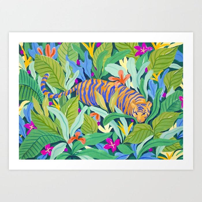 Colorful Jungle Art Print