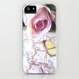 Roses And Butterflies iPhone Case