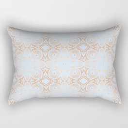 artisan: unbroken chain (in periwinkle & copper) Rectangular Pillow