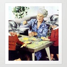 Grandma's Bots Art Print