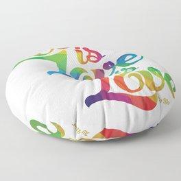 Love is Love is Love Floor Pillow