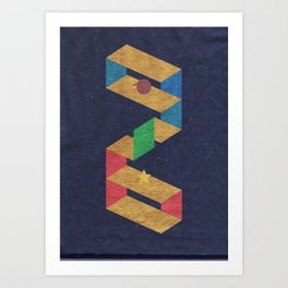 Parallelogram: Stars Art Print