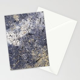 Orion - Jackson Pollock style abstract drip painting by Rasko Stationery Cards