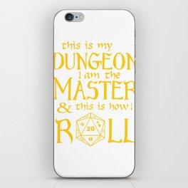 Tabletop Gaming DM Print Geek Fantasy Dragons D20 Dice Tee iPhone Skin