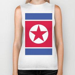 North Korea flag emblem Biker Tank