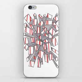Red Fragmentation iPhone Skin