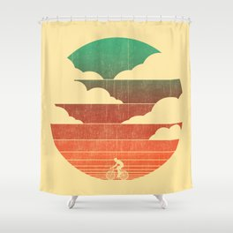 Go West (cycling edition) Shower Curtain