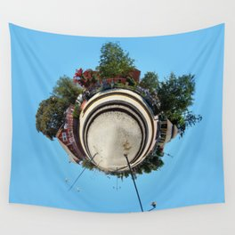 Planet Train Station Wall Tapestry