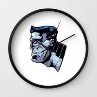 xmen Wall Clocks featuring x15 by jason st paul