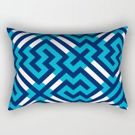 Artis 1.0, No.16 in Warm Blue Rectangular Pillow