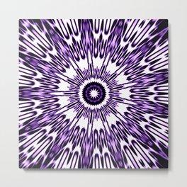 Purple White Black Explosion Metal Print