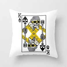 Dead King Card Throw Pillow