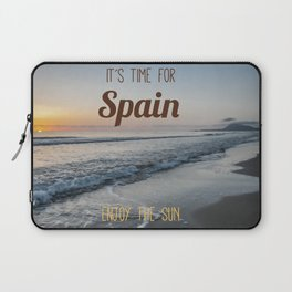 Time for spain Laptop Sleeve
