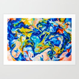 Milkblot No. 7 Art Print