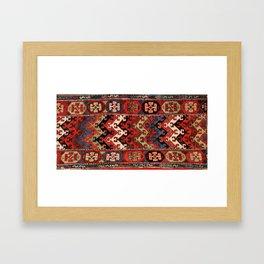 Kurdish East Anatolian Rug Print Framed Art Print