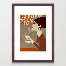 Tea. Framed Art Print