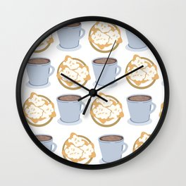 Beignets and Cafe Au Lait Wall Clock