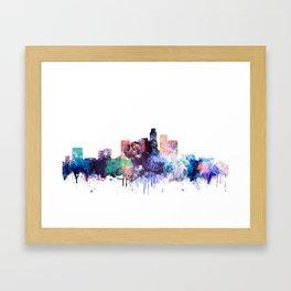 Los Angeles Watercolor Skyline Framed Art Print