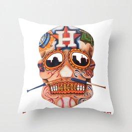 Dia De Los Astros Throw Pillow