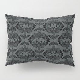 Moth Damask Black on Grey Pillow Sham
