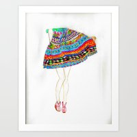 boho Art Prints featuring Boho by Rayna Sevilla