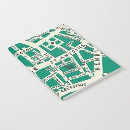 PARIS MAP GREEN Notebook