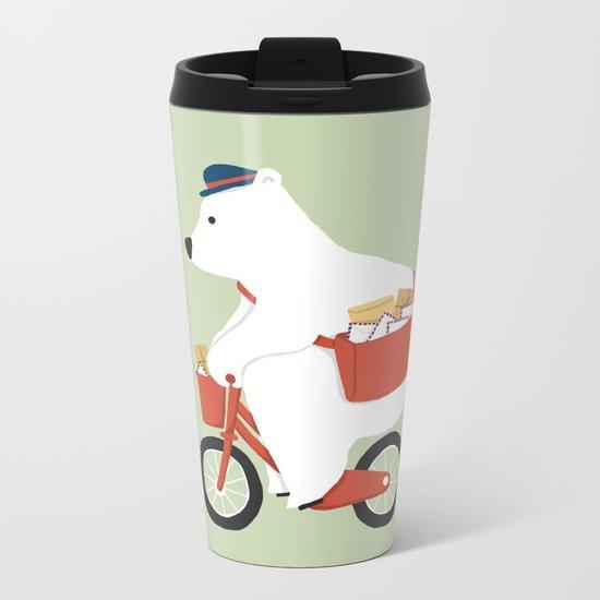 Polar bear postal express Metal Travel Mug
