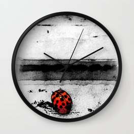 Lady in black and white Wall Clock