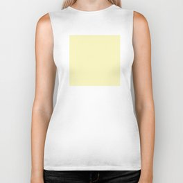Hello Pastel Yellow - Solid Color Biker Tank