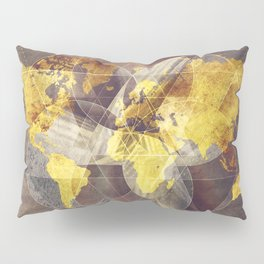world map 35 sacred Pillow Sham