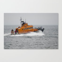 Lifeboat in action Canvas Print