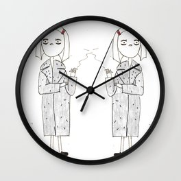 the royal tenenbaums - margot Wall Clock