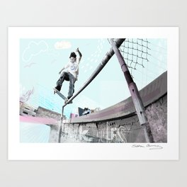 Don't fence me in Art Print