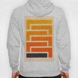 Orange & Black Geometric Pattern Hoody