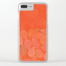 LEAVES ENSEMBLE ORANGE FLAME Clear iPhone Case