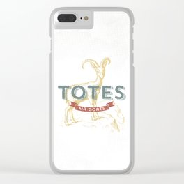 Totes Ma Goats Clear iPhone Case