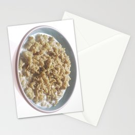Bowl of Oatmeal  Stationery Cards