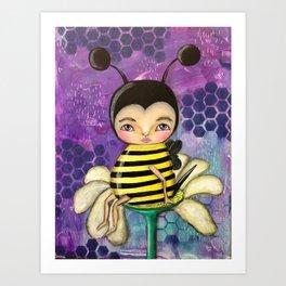 Bee Girl Art Print