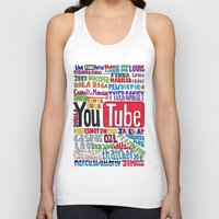 pewdiepie Tank Tops featuring Youtube Colored Collage by emma