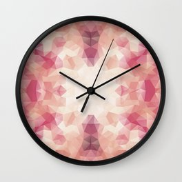 """Protea flower"" triangles design Wall Clock"